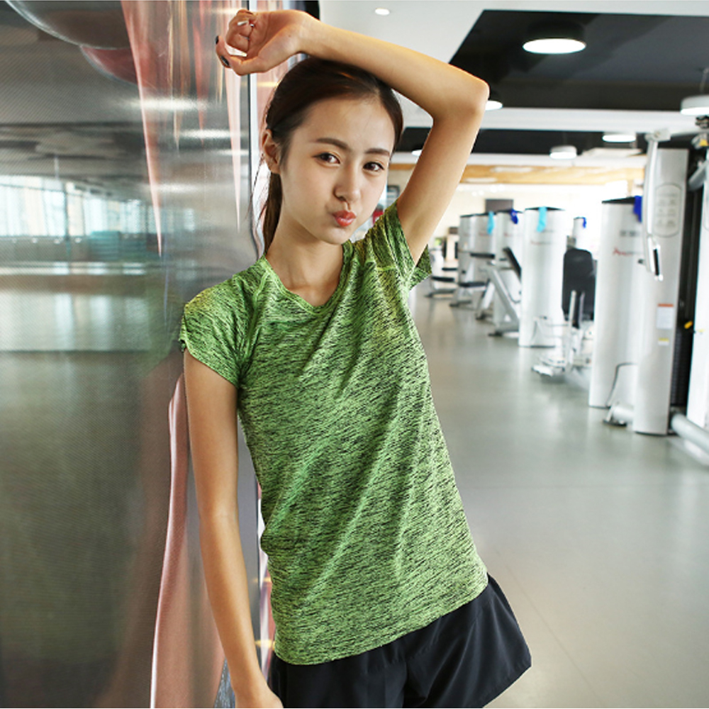 High Quality Jogging Yoga Fitness Quick Dry Sport T Shirt Women T Shirt