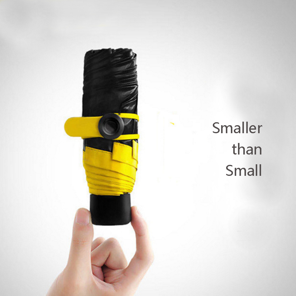 Lemon Pocket Umbrella Sunscreen UV Folding Super Mini Umbrella