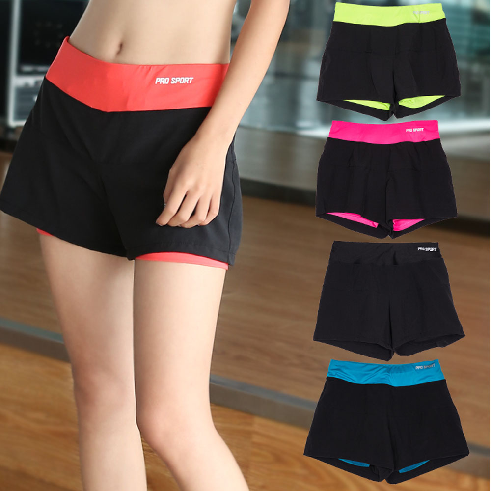 2016 New Women Sports Jogging Shorts Yoga Gym Fast Dry Loose Shorts