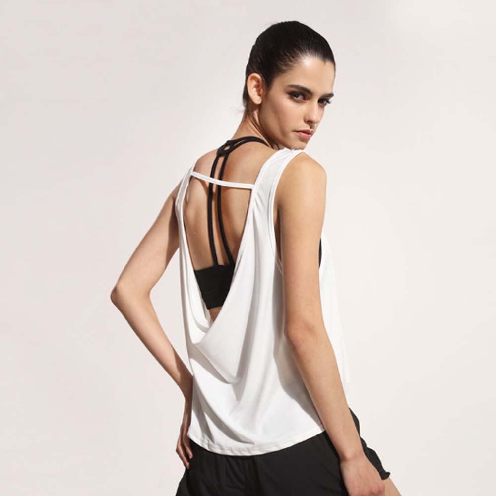 Women Sports Sleeveless Singlet Loose Plus Size Women Sexy Gym Jogging T Shirt