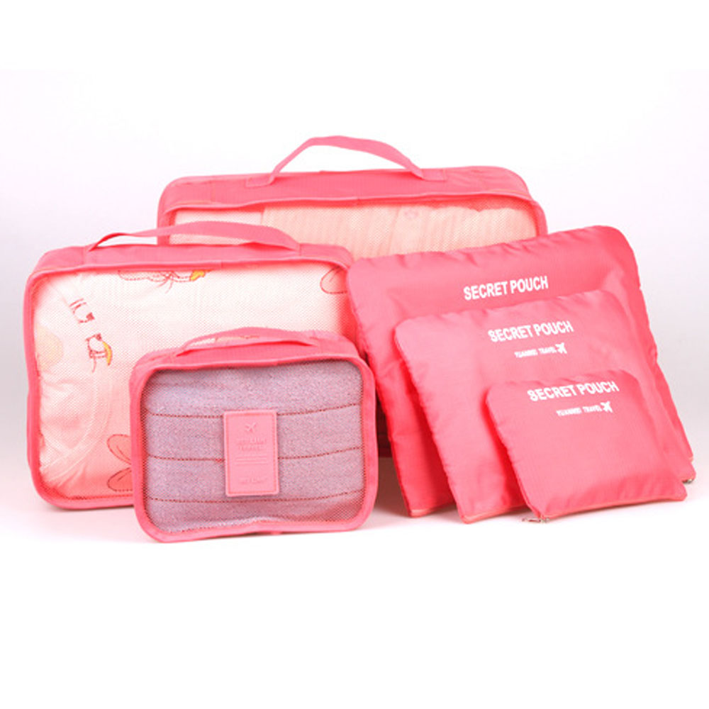 High Quality Travel Organizer Bags 6pcs Set Travelling Organizing Bags Large Medium And Small Sizes Set